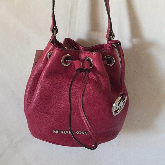 f973615530b3 NWT Michael Kors JULES DRWS crossbody Bucket Bag